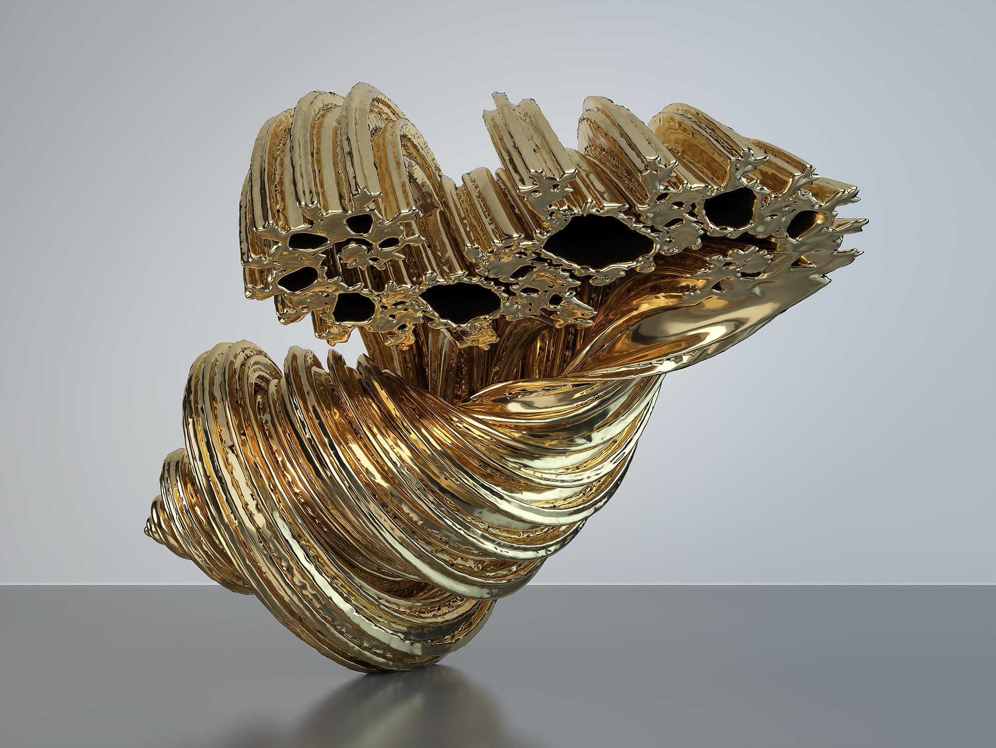 Sign of God. Fractal Geometry. The Gold Set